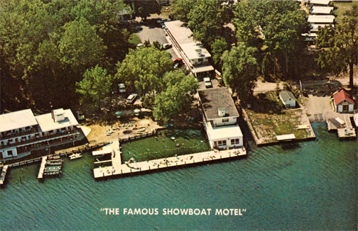 Old picture of Showboat venue from a Plane